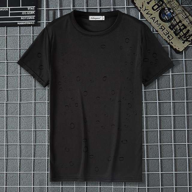 Summer Solid Anti-Dirty Waterproof Quick Dry T-Shirt