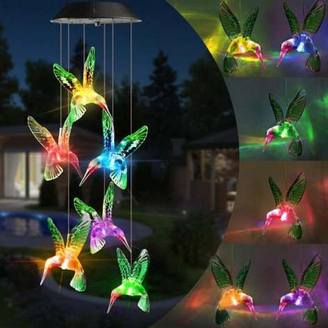 【50% Off Fathers Day Promotion】Solar Powered Wind Chimes Lights