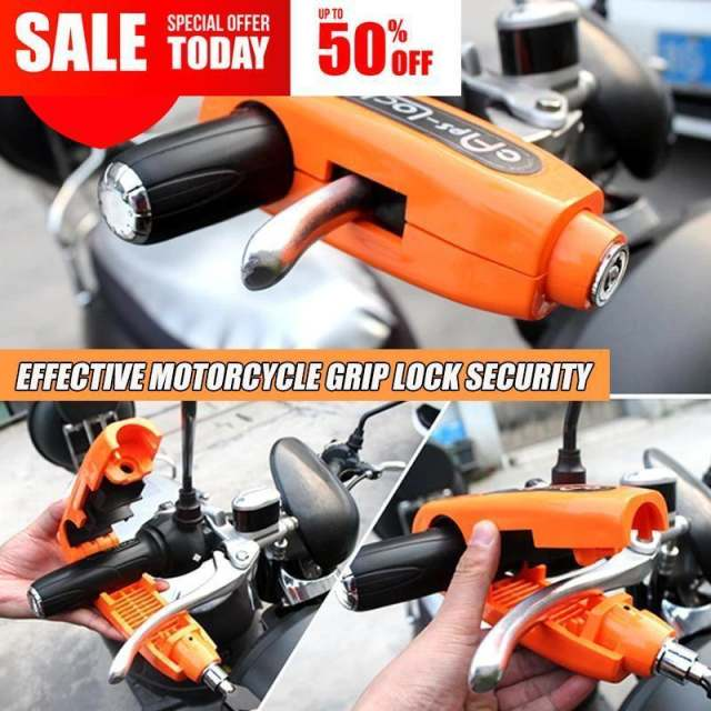 Effective Motorcycle Grip Lock Security ( BUY 3 GET 1 FREE )
